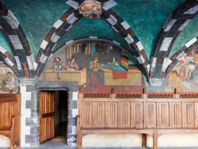 VALLE D'AOSTA-Castello Issogne affreschi (foto Enrico Romanzi)-2530