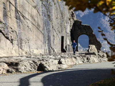 VALLE D'AOSTA-Strada romana a Donnas (foto Enrico Romanzi)