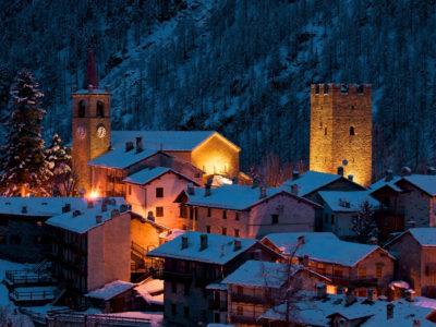 VALLE D'AOSTA - champorcher veduta notturna invernale (foto marco spataro)_06